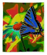 Butterfly Blues Fleece Blanket