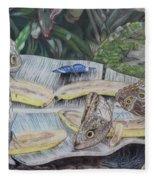 Butterfly Brunch Fleece Blanket
