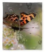 Butterfly Bubbles Fleece Blanket