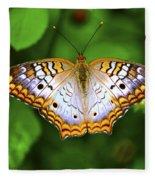 Butterfly Closeup Fleece Blanket