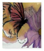 Butterfly Collecting Fleece Blanket