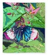Butterfly Dining Fleece Blanket