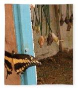 Butterfly Drying His New Wings Fleece Blanket