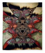 Butterfly Effect 2 / Vintage Tones  Fleece Blanket