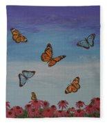 Butterfly Field Fleece Blanket