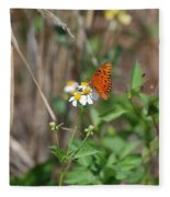 Butterfly Flower Fleece Blanket