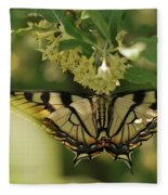 Butterfly From Another Side Fleece Blanket