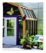 Butterfly House 3 Fleece Blanket