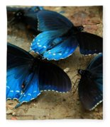 Butterfly Huddle At The Puddle Fleece Blanket