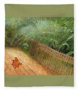 Butterfly In A Small Zen Sand Garden Fleece Blanket