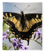 Butterfly In My Garden Fleece Blanket