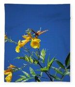 Butterfly In The Sonoran Desert Musuem Fleece Blanket