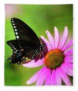 Butterfly In The Sun Fleece Blanket