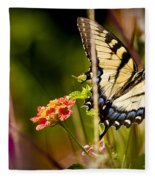 Butterfly Jungle Fleece Blanket