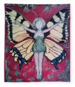 Butterfly Lady Fleece Blanket