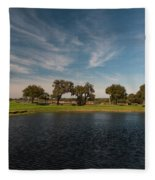 Butterfly Lake At Middleton Place Fleece Blanket