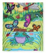 Butterfly Lake Fleece Blanket
