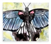 Butterfly Macro Fleece Blanket