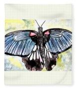 Butterfly Macro Fleece Blanket