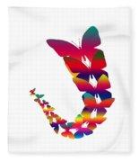 Butterfly Migration Fleece Blanket