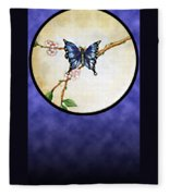 Butterfly Moon Fleece Blanket