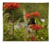 Butterfly Notes Fleece Blanket
