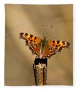 Butterfly On A Stick Fleece Blanket