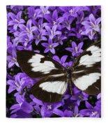Butterfly On Campanula Get Mee Fleece Blanket