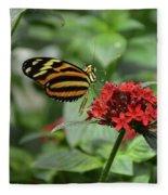 Butterfly Orange And Yellow Fleece Blanket
