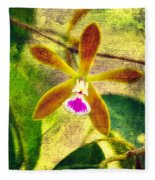 Butterfly Orchid - Encyclia Tampensis Fleece Blanket