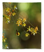 Butterfly Orchid Fleece Blanket