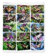 Butterfly Plethora I Fleece Blanket