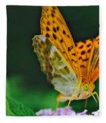 Butterfly Pose Fleece Blanket