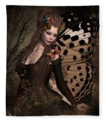 Butterfly Princess Of The Forest 2 Fleece Blanket