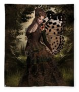 Butterfly Princess Of The Forest Fleece Blanket