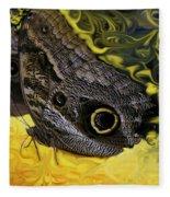 Butterfly Reflections Fleece Blanket