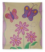 Butterfly Smiles Fleece Blanket