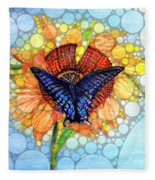 Butterfly Sunday After The Rain Fleece Blanket