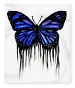 Butterfly Tears Fleece Blanket