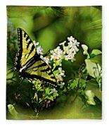 Butterfly Wall Decor Fleece Blanket