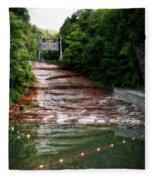 Buttermilk Falls State Park New York 02 Fleece Blanket