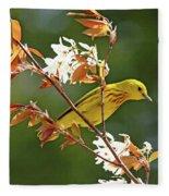 Buttery Yellow Warbler Fleece Blanket