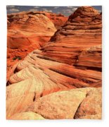 Buttes And Checkerboards Fleece Blanket