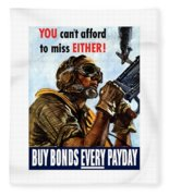 Buy Bonds Every Payday Fleece Blanket