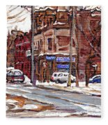 Buy Original Paintings Montreal Petits Formats A Vendre Scenes De Pointe St Charles Cspandau Artist Fleece Blanket