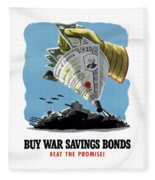 Buy War Savings Bonds Fleece Blanket