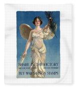 Buy War Savings Stamps Fleece Blanket