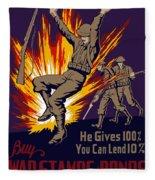 Buy War Stamps And Bonds Fleece Blanket