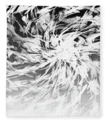 Bw Abstract Spiral Fleece Blanket