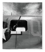 Bw Aircraft Gunner Window Fleece Blanket